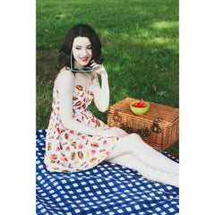 Retrolicious Picnic Dress Hamburger Hot Dog Watermelon Retro Rockabilly Vintage