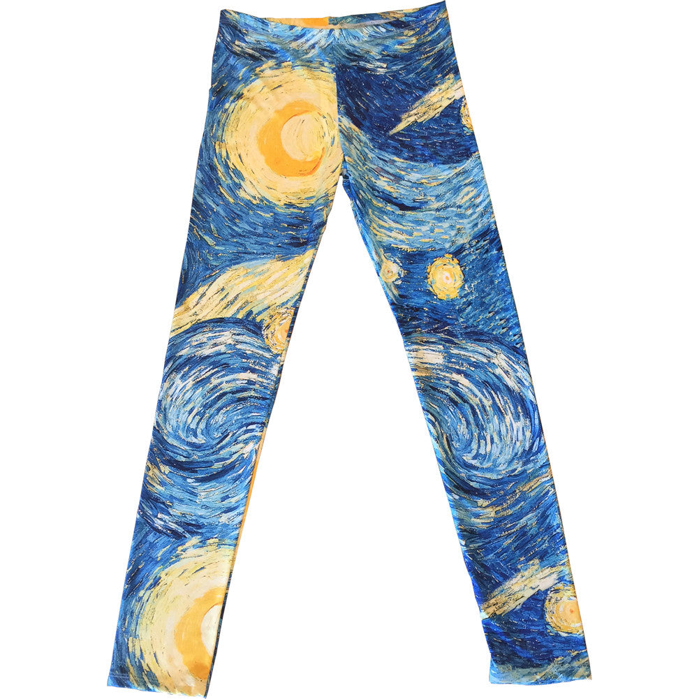 Women's Retrolicious Starry Night Leggings Blue Art Lover Van Gogh