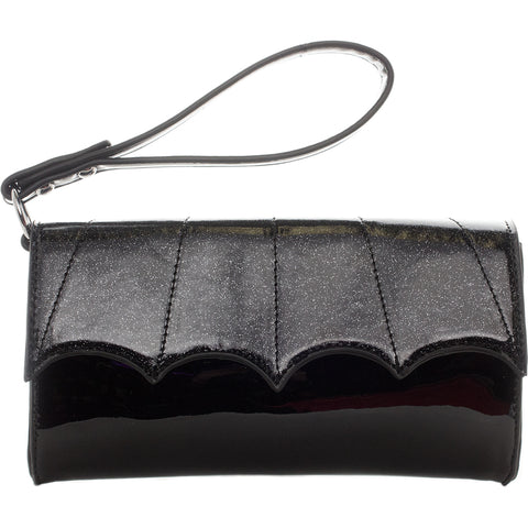 Sourpuss Bat Wristlet Black Bat Wing Clutch Goth Wallet