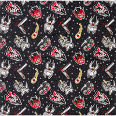 Sourpuss Friday The 13th Rosie Scarf Horror Psychobilly Devil Spider