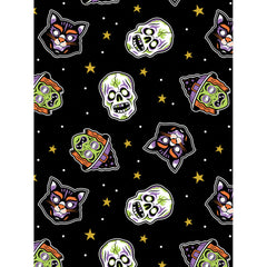 Sourpuss Masks Bad Girl Scarf Black Halloween Cats Skulls Witches Rockabilly