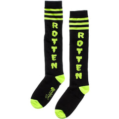 Women's Sourpuss Rotten Socks Black Punk Goth