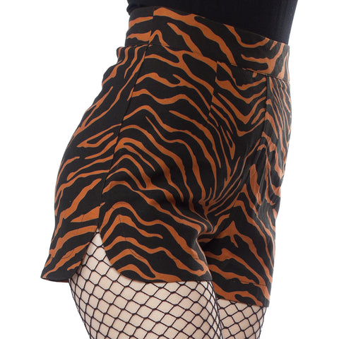 Women's Sourpuss Tiger Sweetie Pie Shorts Rockabilly Psychobilly Animal Print