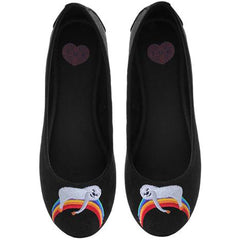 Women's T.U.K. Slothwhere Over the Rainbow Flat Black Funny