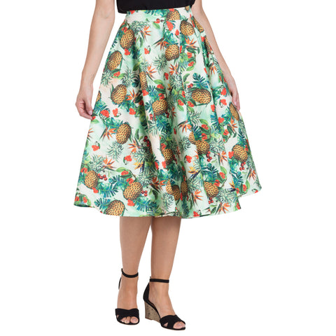 Voodoo Vixen Sammy Tropical Skirt Green