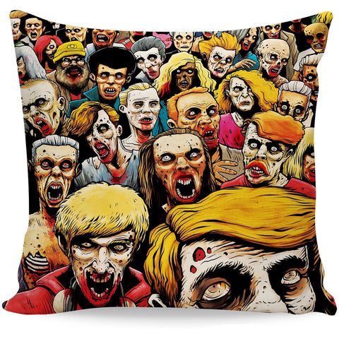 Zombies at the Mall Pillow