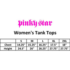 Women's Pinky Star Full Of Fire Racer Back Tank Top Black