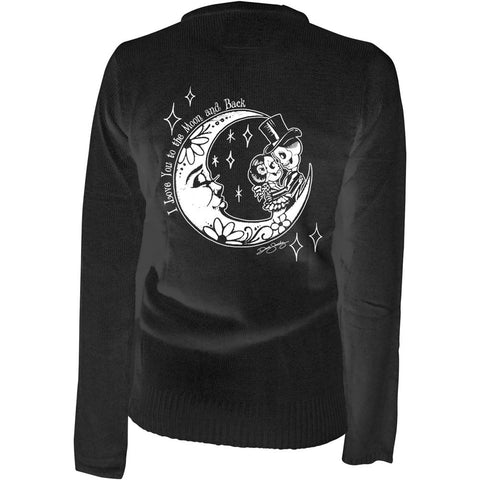 Women's Pinky Star To The Moon Cardigan Black