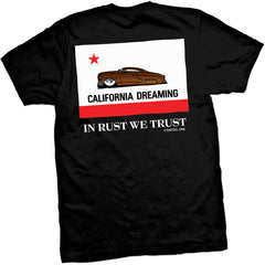 Men's Cartel Ink California Rust T-Shirt Lead Sled Hot Rod Classic Car