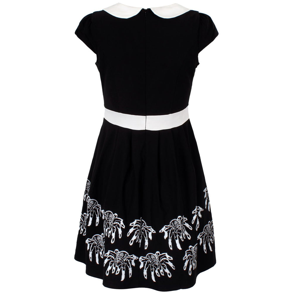 Sourpuss Creepy Crawlies Lizzie Dress Black/White