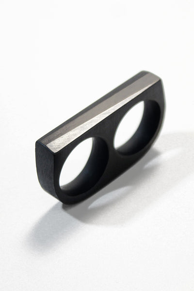 Ebony DOUBLE ANGLE Ring