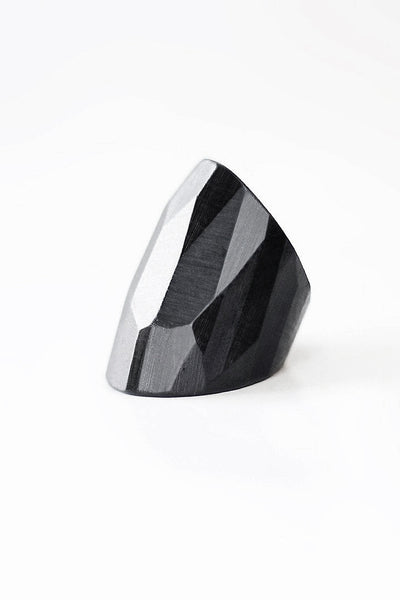 CHIZELED Ebony Ring
