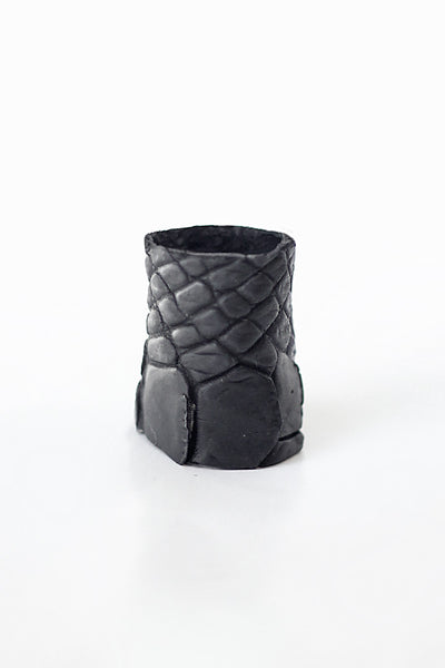 Crocodile Leather Ring