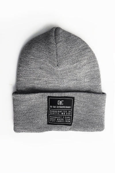 DTE HEATHER GRAY BEANIE
