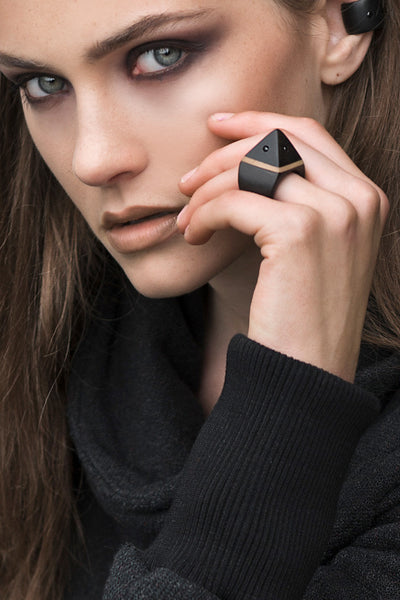 Ebony Pinnacle Ring