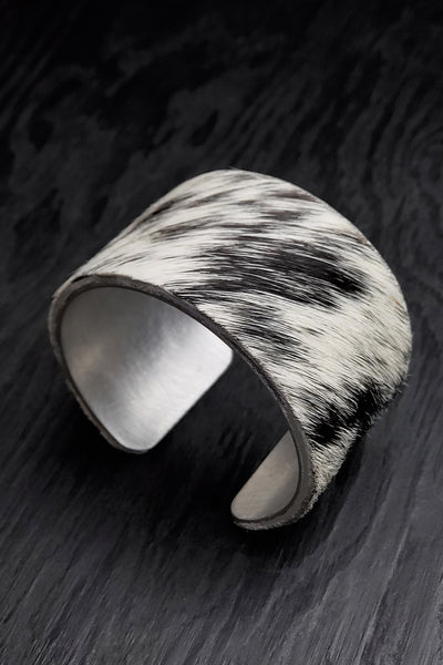 Speckled Cow Hide Cuff