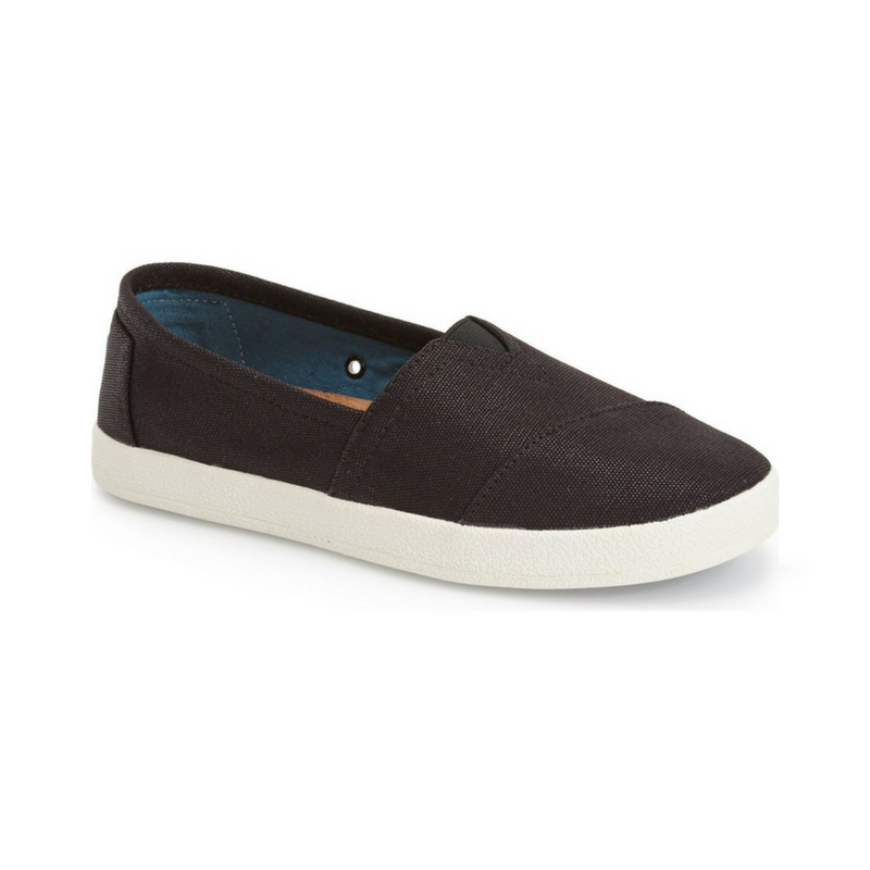 Black Coated Canvas Avalon Slip-on