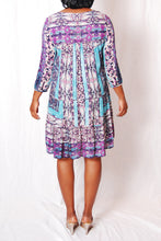 Scarf Print Swing Dress