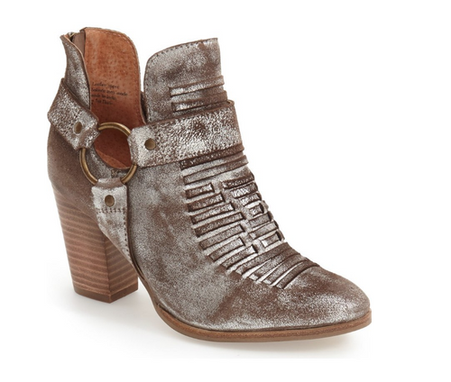 Impossible Metallic Pewter Bootie