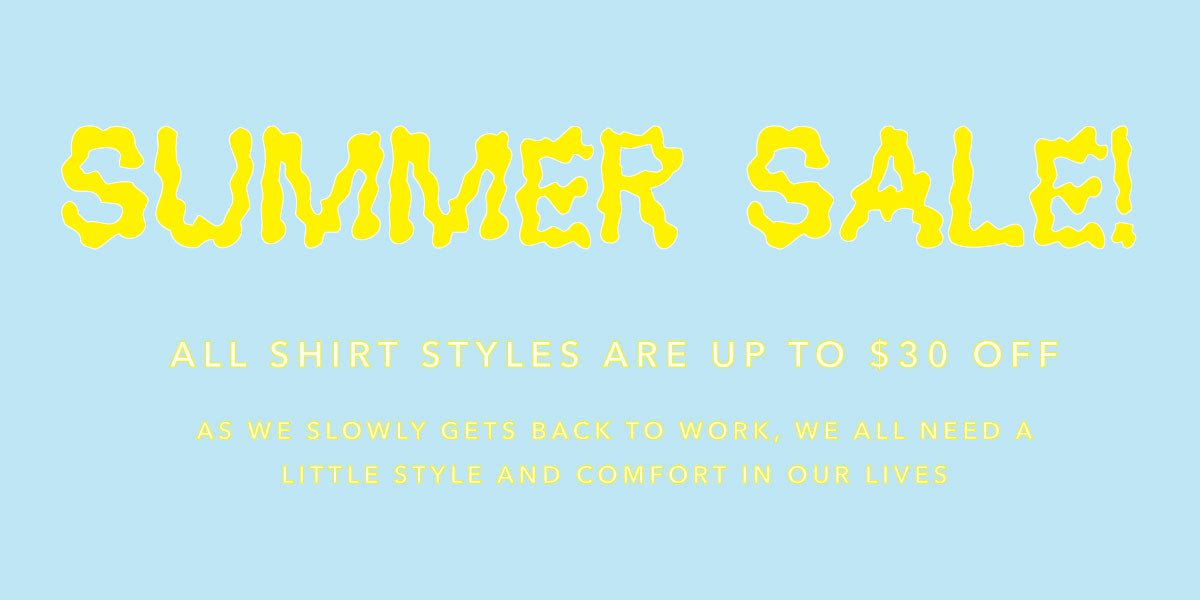 Summer Sale $30 off all shirts