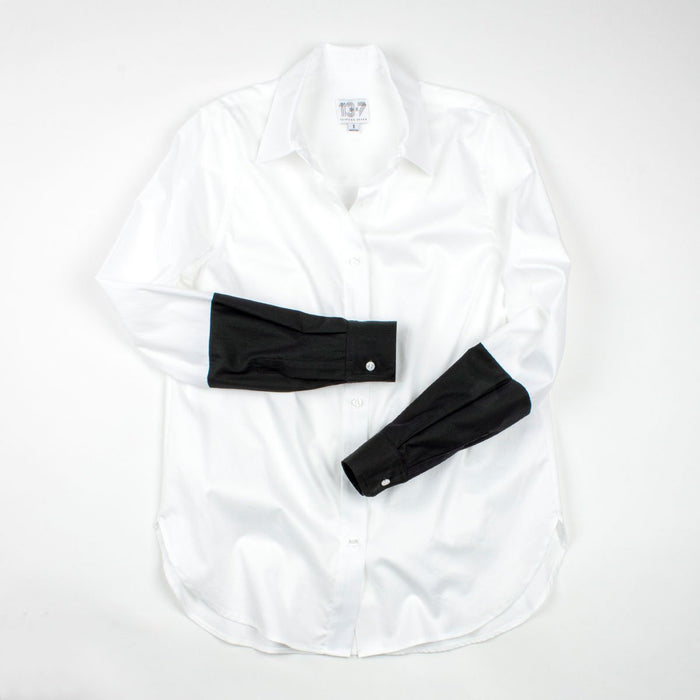The Hand Dipped Shirt - Crisp White/Jet Green