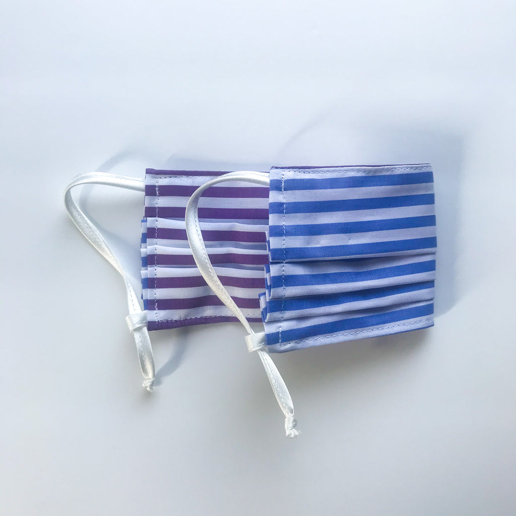 Reversible Pleated Mask w/Adjustable Loops