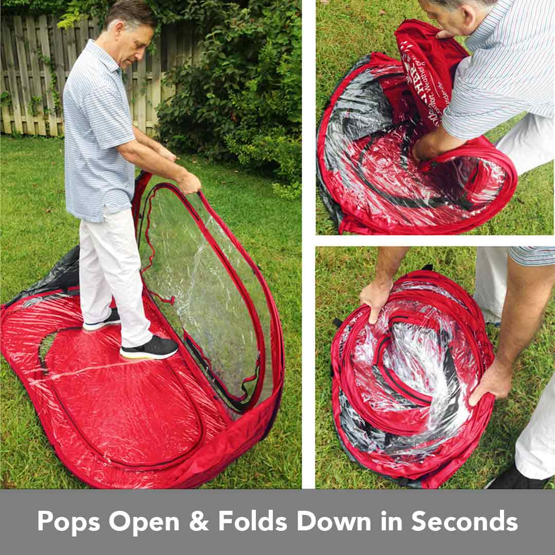 Pops Open and Folds in Seconds