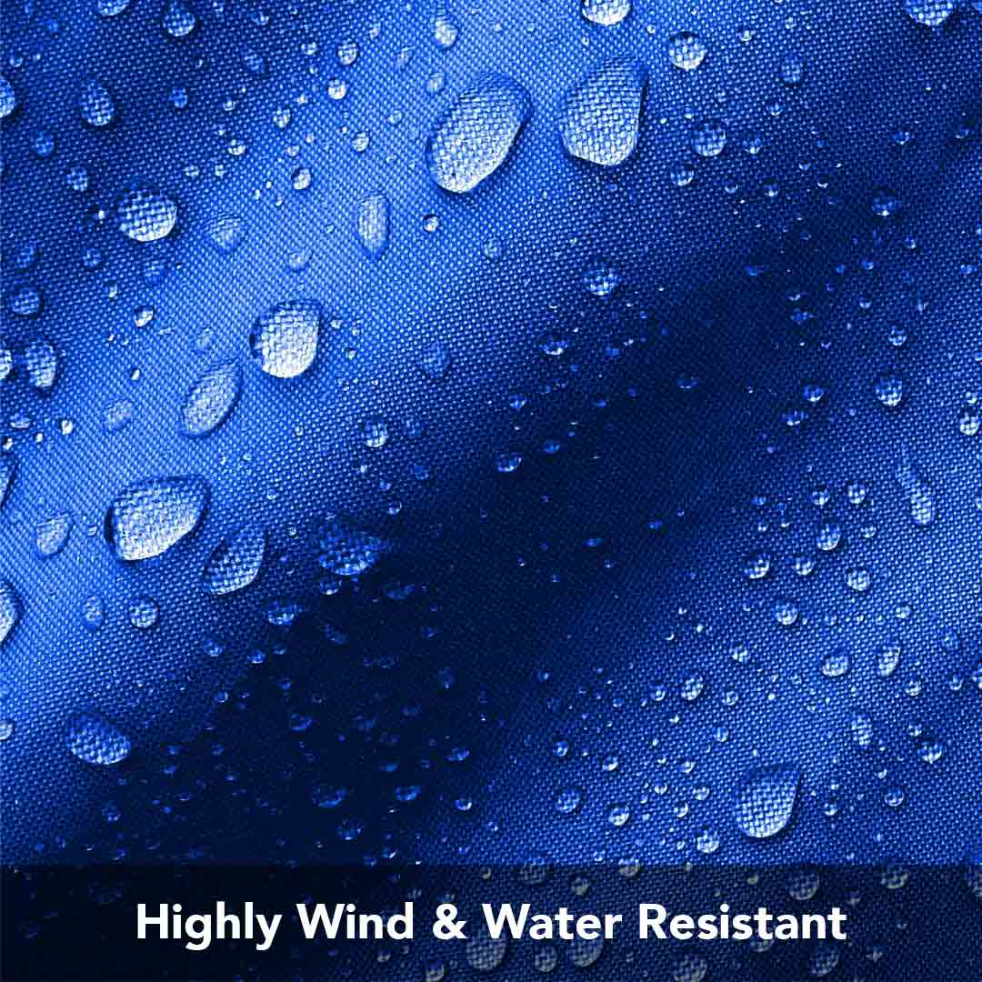 Highly Wind & Water Resistant