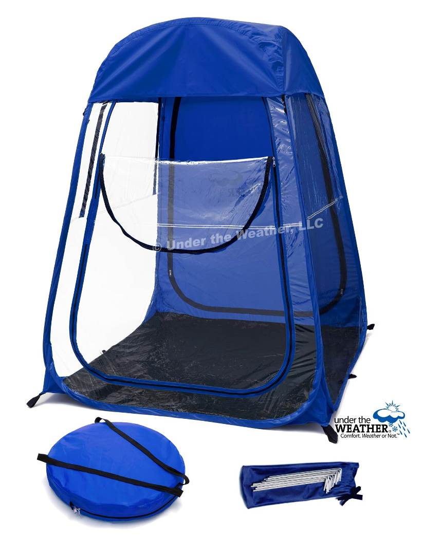 Under the Weather® - Personal pop-up sports tent for mom, dad, kids, parents - XLDeluxePod Home Page