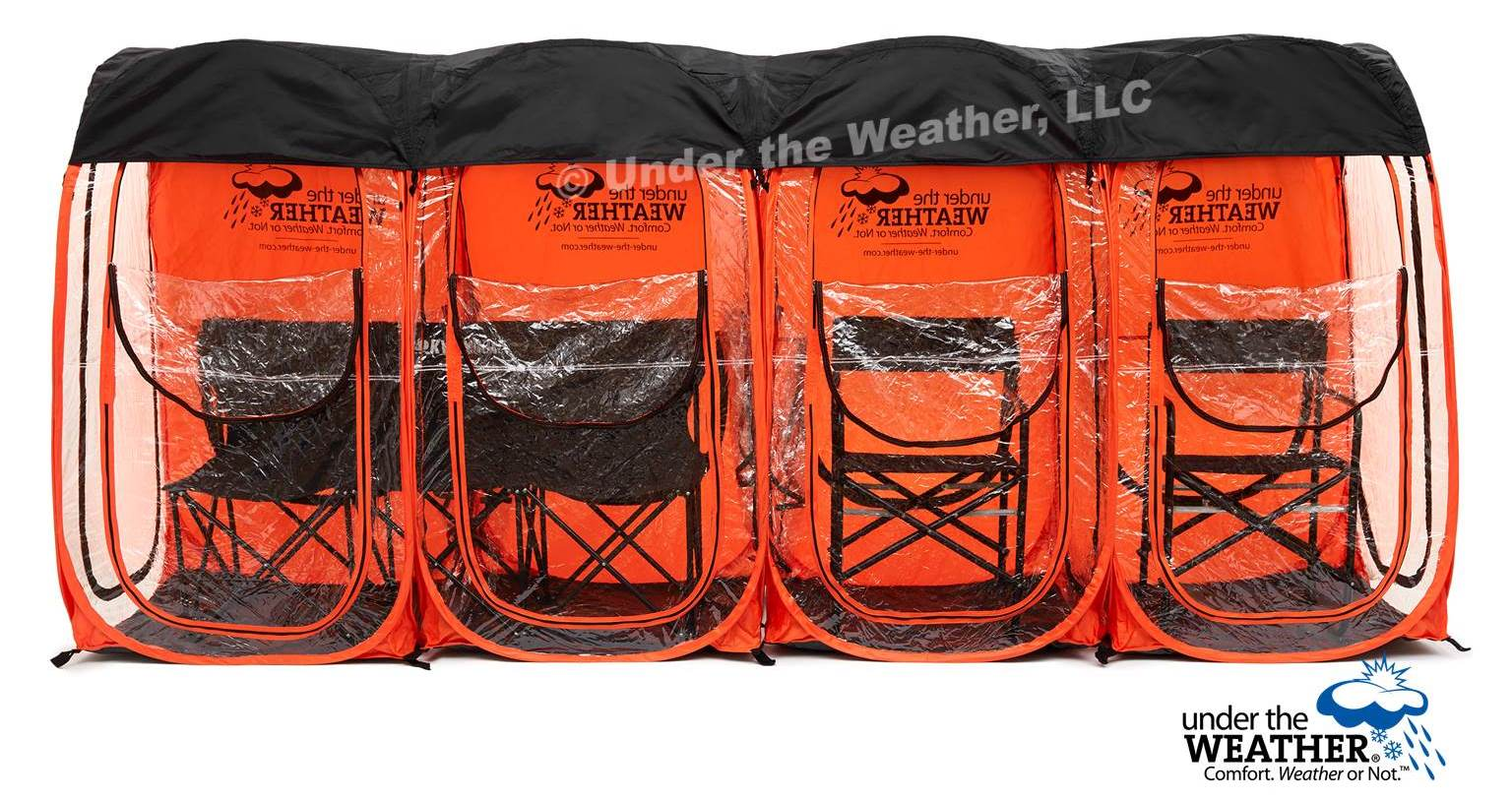 Under the Weather® - Personal pop-up sports tent for mom, dad, kids, parents - Four MyPod