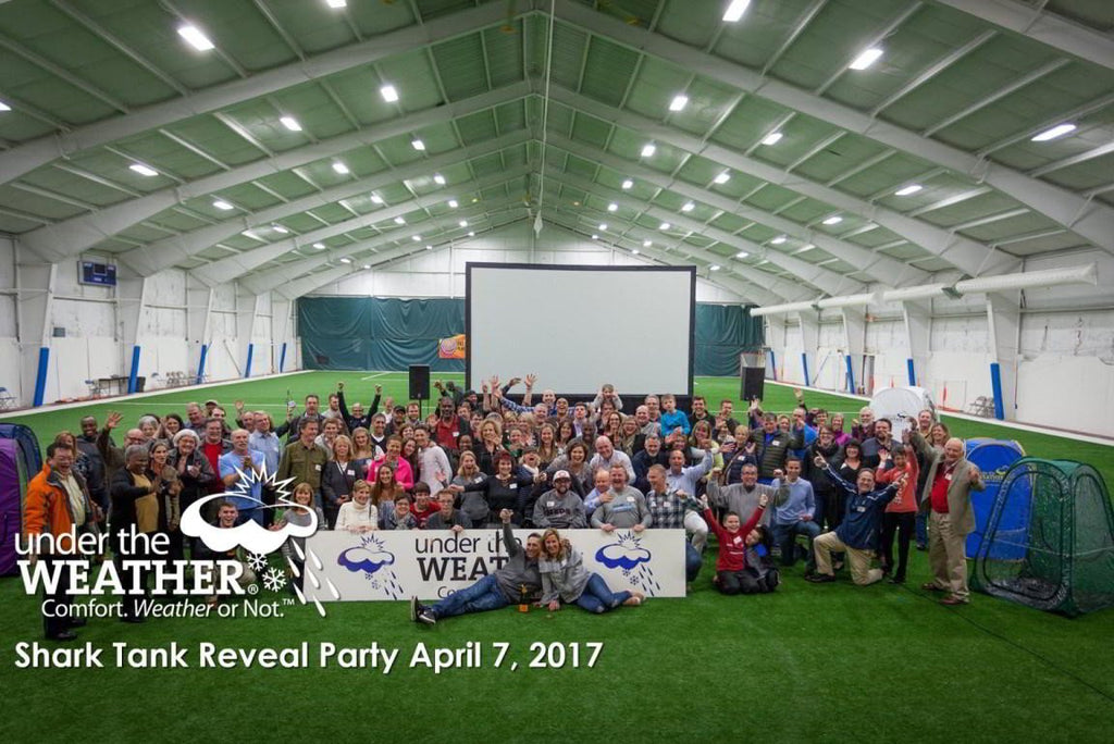 "Under the Weather® ""Shark Tank"" watch party."