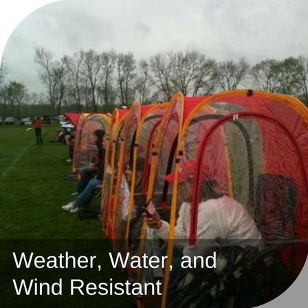 Under the Weather® - Personal pop-up sports tent for mom, dad, kids, parents - Weather, Water, and Wind Resistant