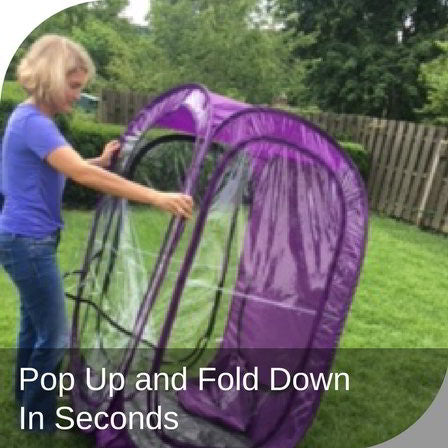 Pop Up and Folds Down in Seconds
