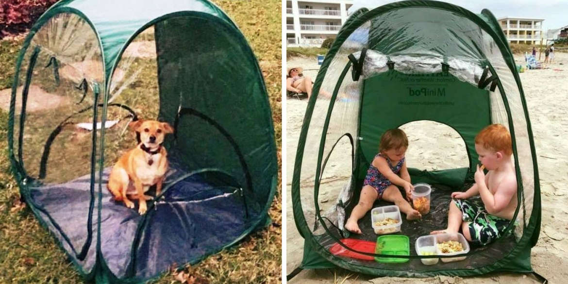 Under the Weather® - Personal pop-up sports tent for mom, dad, kids, parents - MiniPod Lifestyle