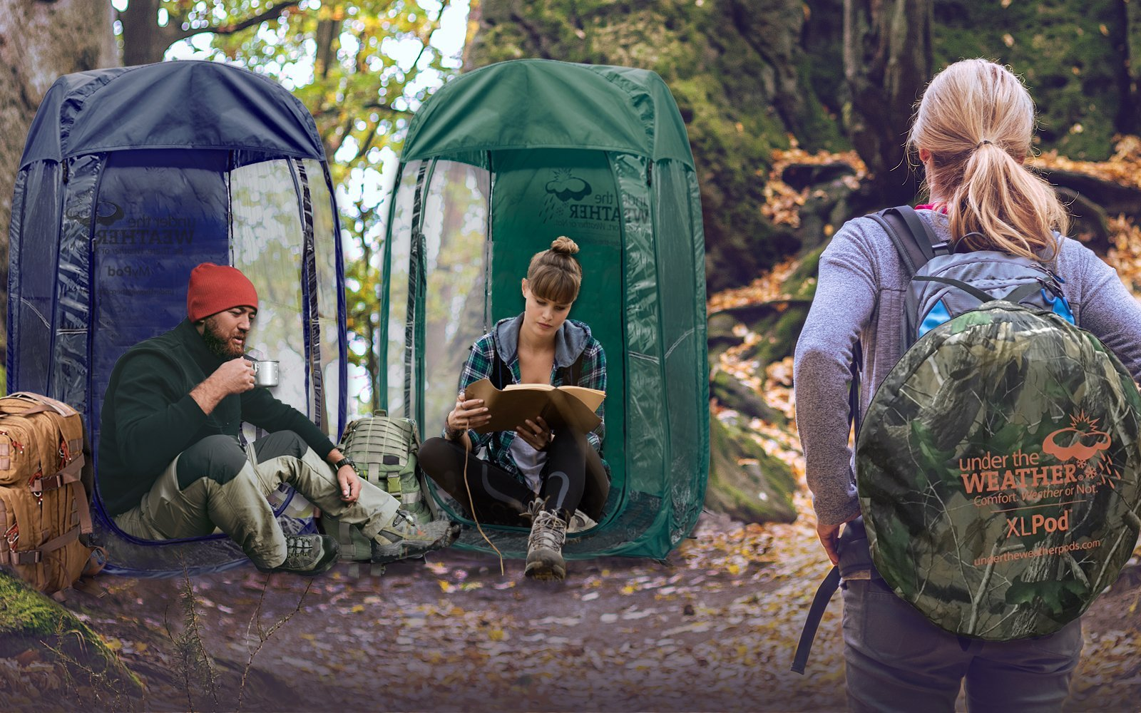Under the Weather® Pods - The original personal pop-up tent