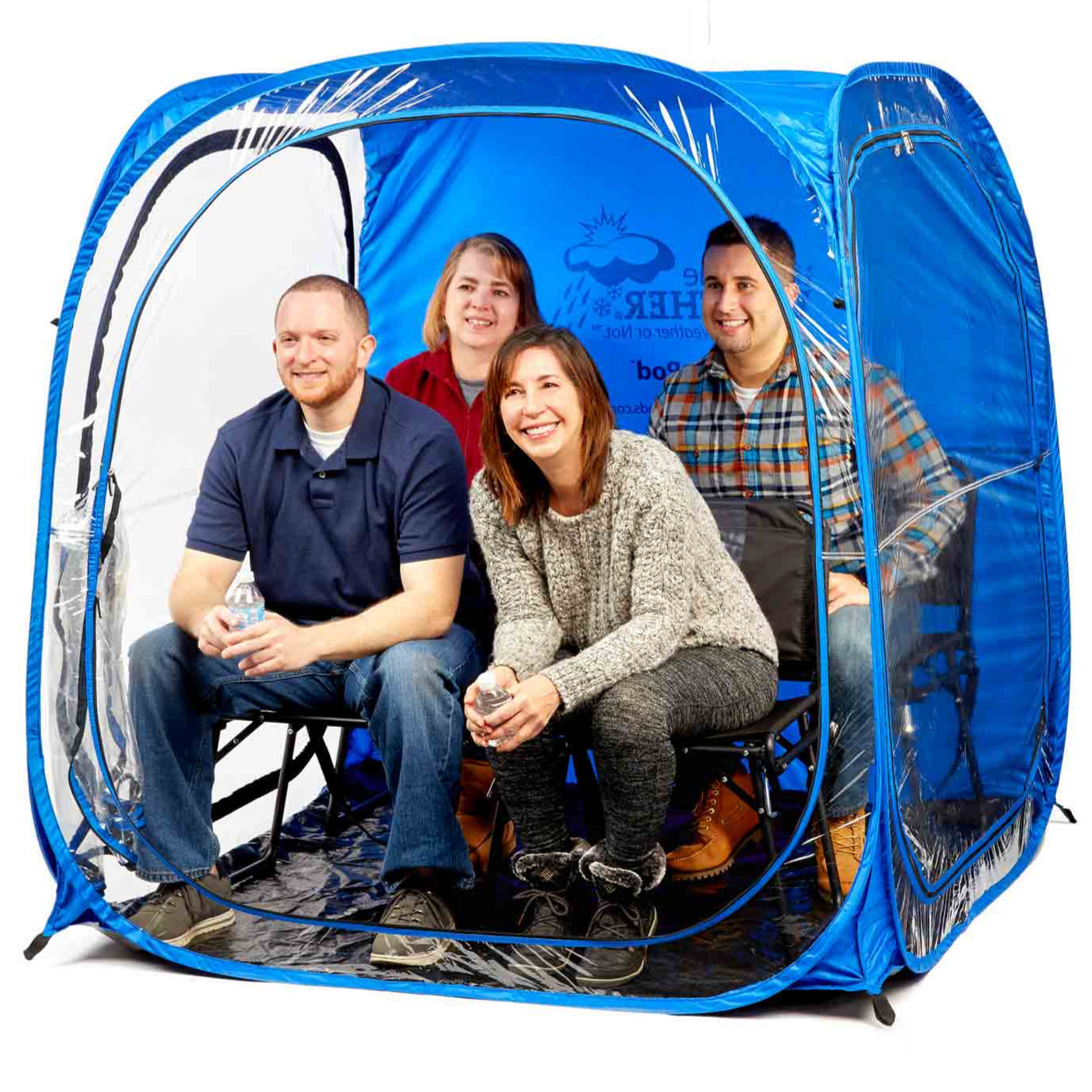 MyPod Mega 4-Person Pop-up Tent - Under the Weather® - Personal pop-up sports tent for mom, dad, kids, parents - Perfect for soccer, baseball, softball, football, youth team sports - As Seen on Shark Tank