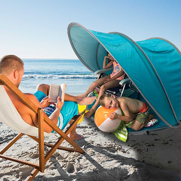 BeachPod Pop-up Tent - Under the Weather® - Personal pop-up sports tent for mom, dad, kids, parents - Perfect for soccer, baseball, softball, football, youth team sports - As Seen on Shark Tank