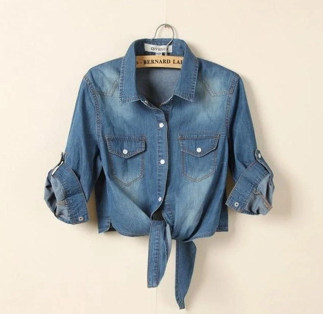 Women Denim Jacket Rural Summer with shawl Cropped Short Denim Jackets Five Sleeves Jeans Light/Deep Blue Chaquetas Mujer BS063