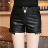 Sexy PU Leather Mini Shorts-PANTS-SheSimplyShops