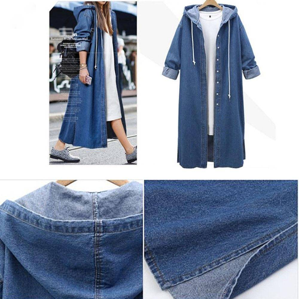 Spring Faux Fur Teddy Coat Jacket Women Autumn Winter Women Long Jean Coat Sweatshirt Long Sleeves Jeans Coat Denim Jacket