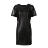 Women Bandage dress Leather Short Sleeve Party Bodycon Women's Clubwear