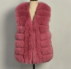 Women Real Fur Gilet Genuine Fox Fur Vests Lady Winter Waistcoat s S7557