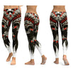 Native Chief Skull Yoga Leggings Yoga Pants Workout Sports Gym Leggings