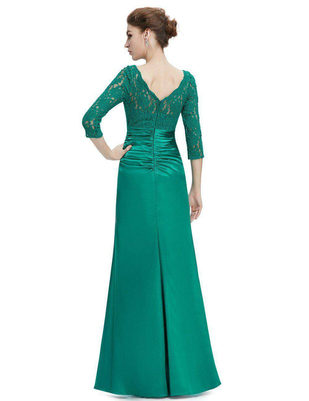 Evening Dresses HE09882 Ever Pretty Elegant 3/4 Sleeve Lace Women Long Winter Formal Evening Dresses Celebrity Dresses