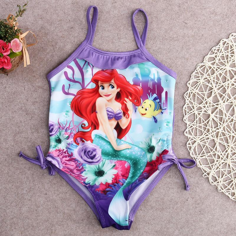 Girls Swimwear Mermaid Princess One Pieces Swimsuit Kids Swimming Suit-SWIMWEAR-SheSimplyShops