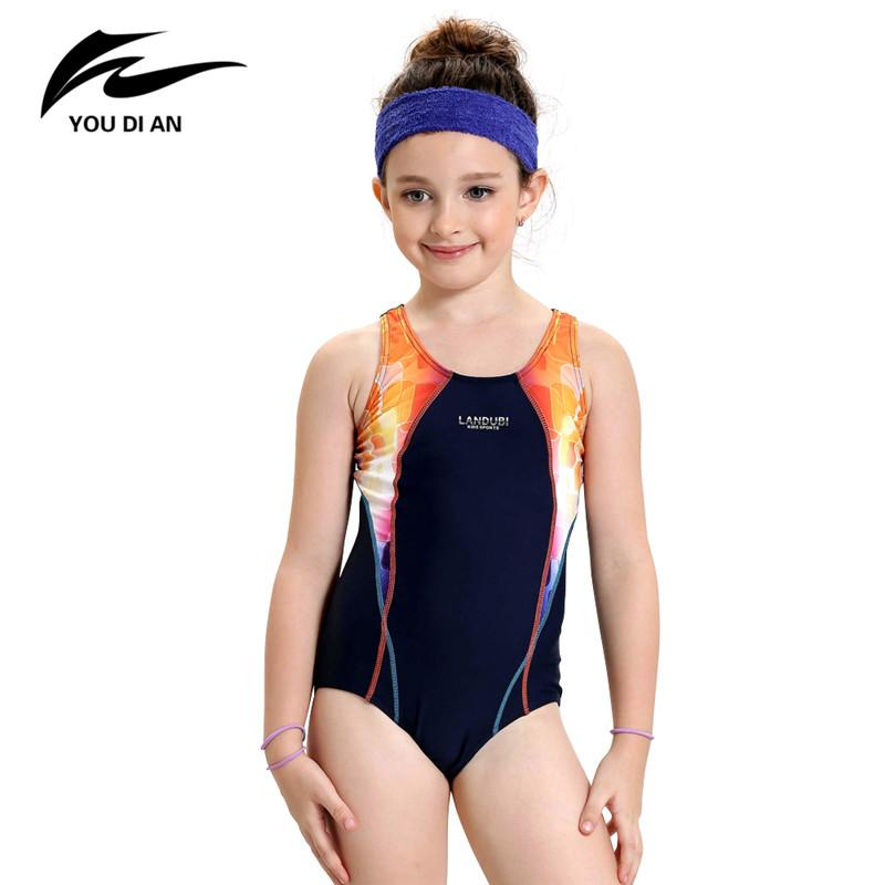 Girls Sports Swimsuit One-piece Swimwear for Kids Children Swimwear Quick Dry Bathing Suit Children Swimming Clothes-ACTIVEWEAR-SheSimplyShops