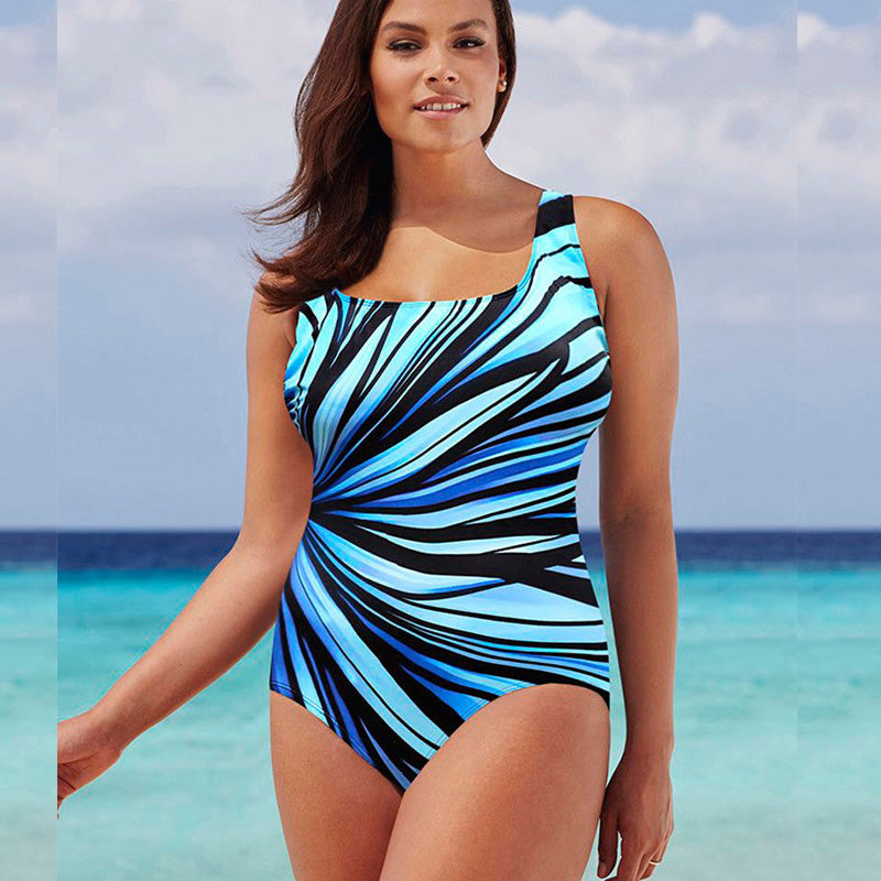 Woman Big Cup Colorful Bathing Suit Sexy One-Piece Swimsuit-SWIMWEAR-SheSimplyShops