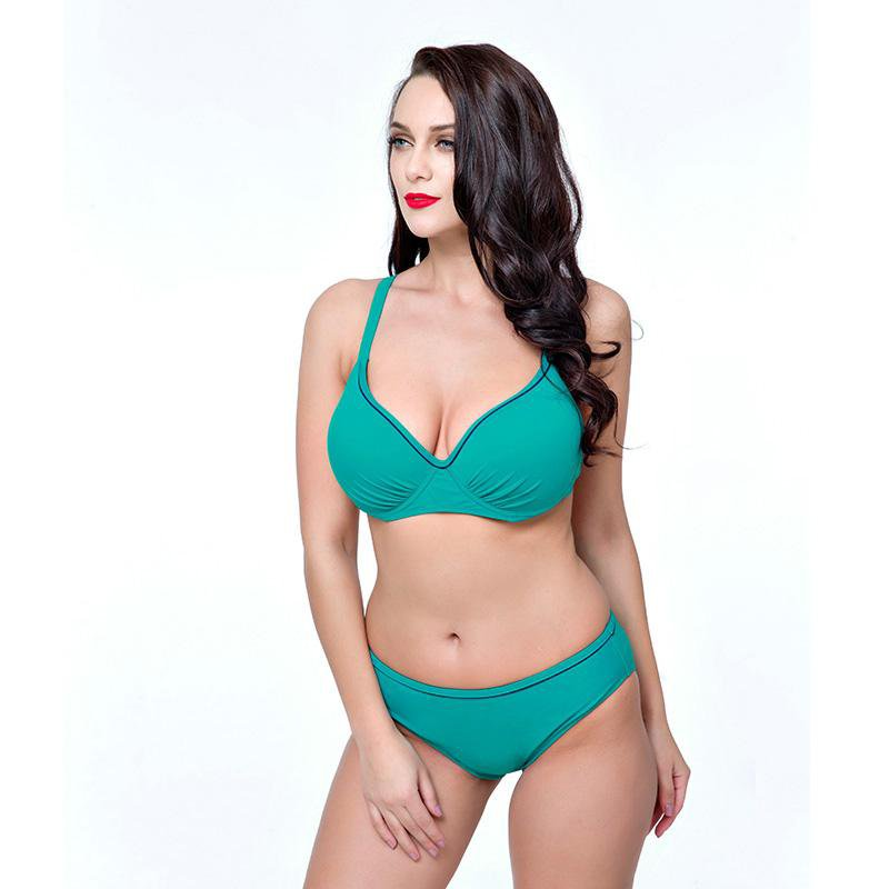 Women Bikinis Swimsuit Push Up Bikini Swimwear Solid Female High Waist bikini-SheSimplyShops