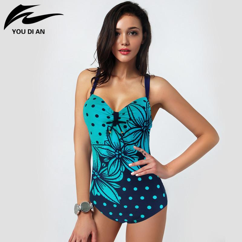 Women One Piece Swimsuit Summer Bathing Suit Women Flower Swimming Suit-SWIMWEAR-SheSimplyShops