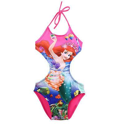 One-Piece Suits Swimwear For Kids Girl Cartoon Print Halter Swimsuit Swimming Bathing Belt Beachwear-BELTS-SheSimplyShops